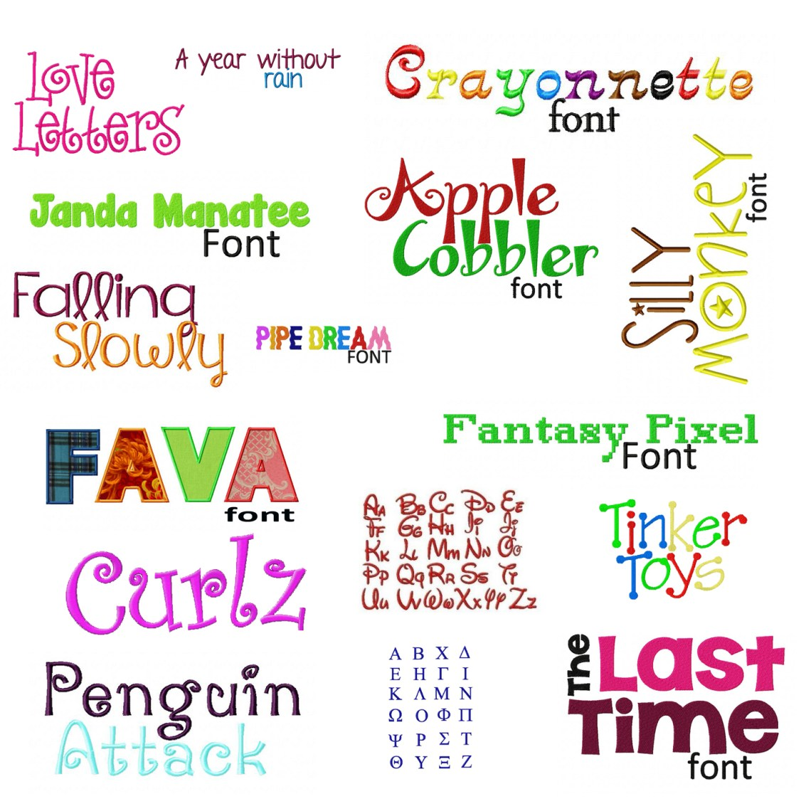 Download Embroidery Font Deal - 50 Machine Embroidery Fonts ...