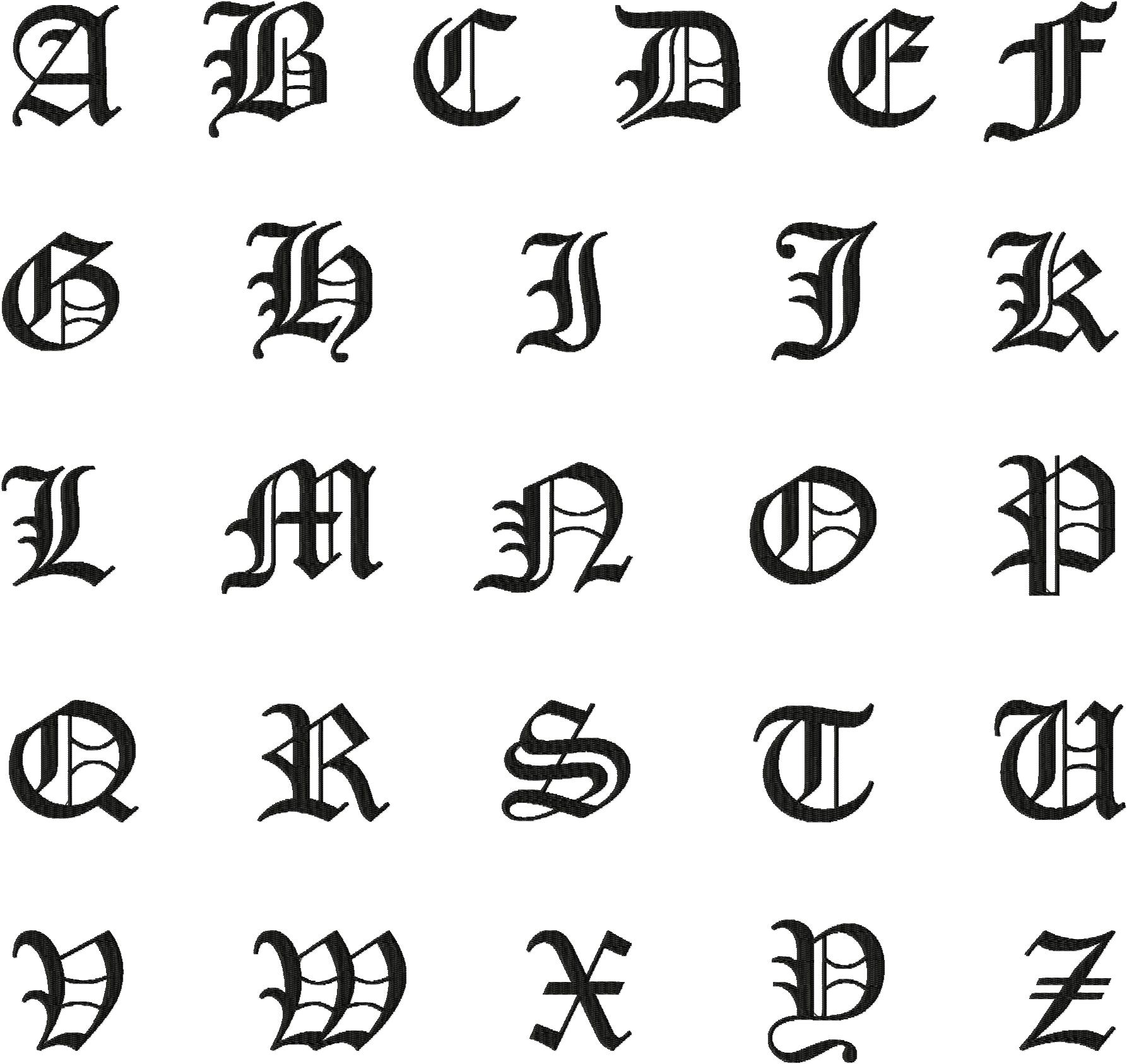 Old English Capital Letters