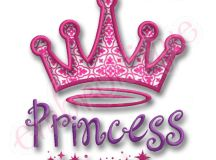 Embroitique Princess Crown Applique Design
