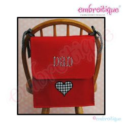 Chair Bags For School Pattern Wheelchair To Buy Embroitique Posh And Proper Mom Dad Valentine
