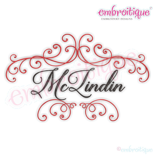 By Year Created 2016 McLinden Fancy Ornate Font