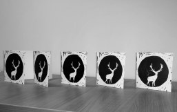 Hannah's black and white reindeer design