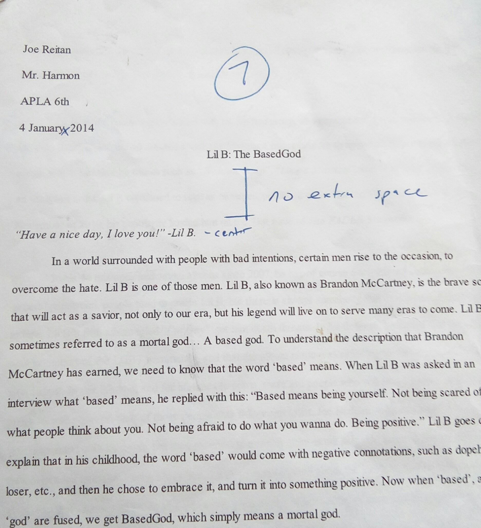 Romeo And Juliet Essay Thesis Lil B The Basedgod Revisiting A High School Ap Essay From  Health Essay Example also College Essay Papers Lil B The Basedgod Revisiting A High School Ap Essay From   Emcee Research Essay Proposal Template