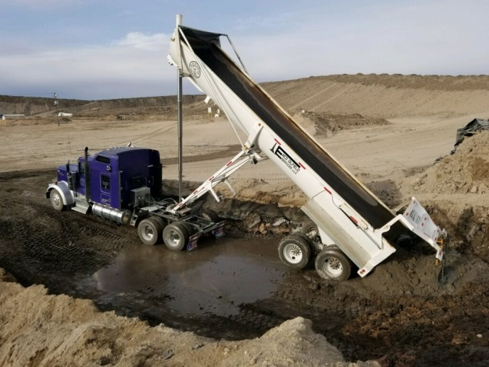 32 foot end dump for Emco oilfield services