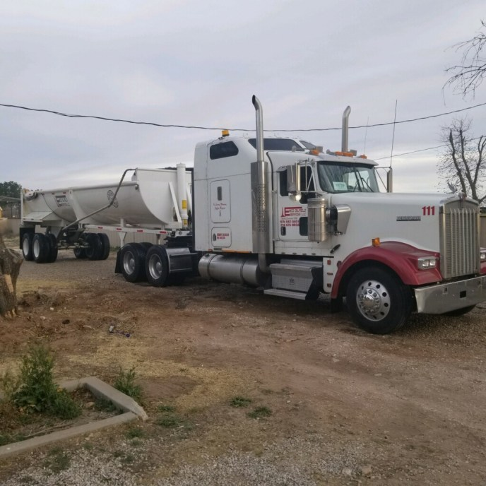 end dump truck for permian basin drilling rigs