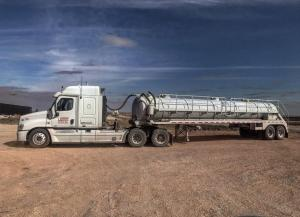 Vacuum truck used in the permian basin, west texas and new mexico