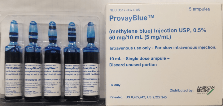 10 Cc Glass Vials Of 05 Methylene Blue To Mix Infusions