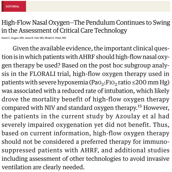 PulmCrit- Does the HIGH trial debunk high-flow nasal cannula?