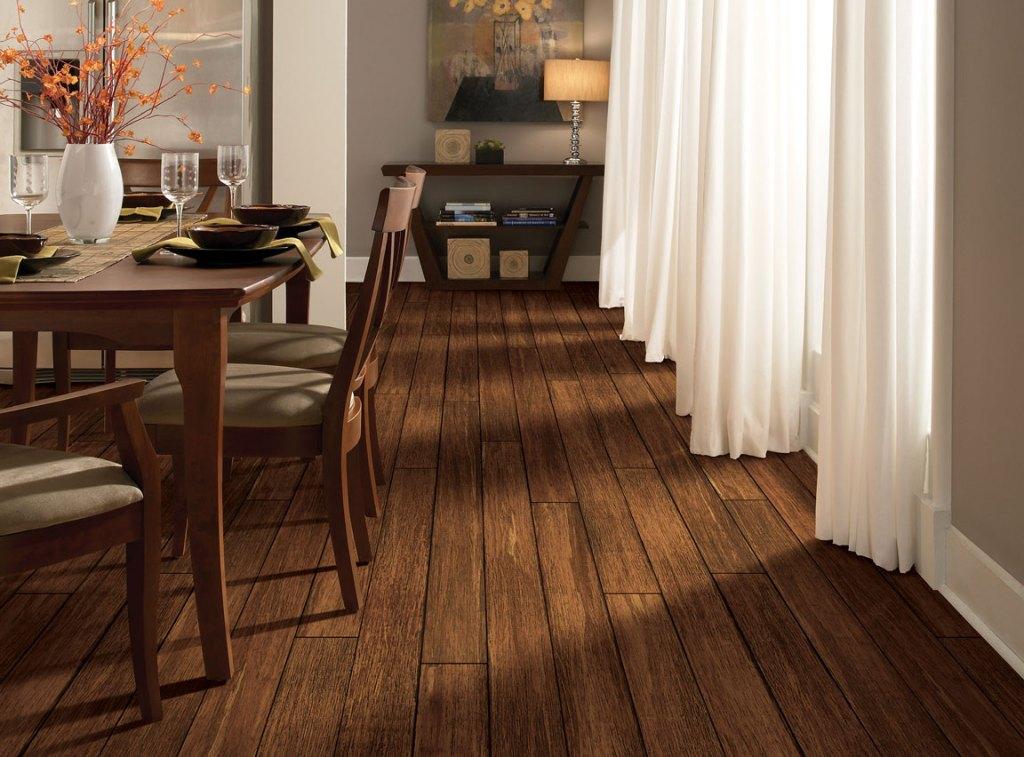 bamboo hardwood dining room floor - US Floors