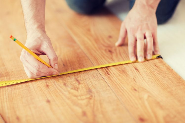 Measuring American Oak hardwood flooring