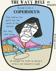 The Wavy Rule a Daily Comic by Pollux Crowe is CopernicusThe Wavy RuleEmdashes