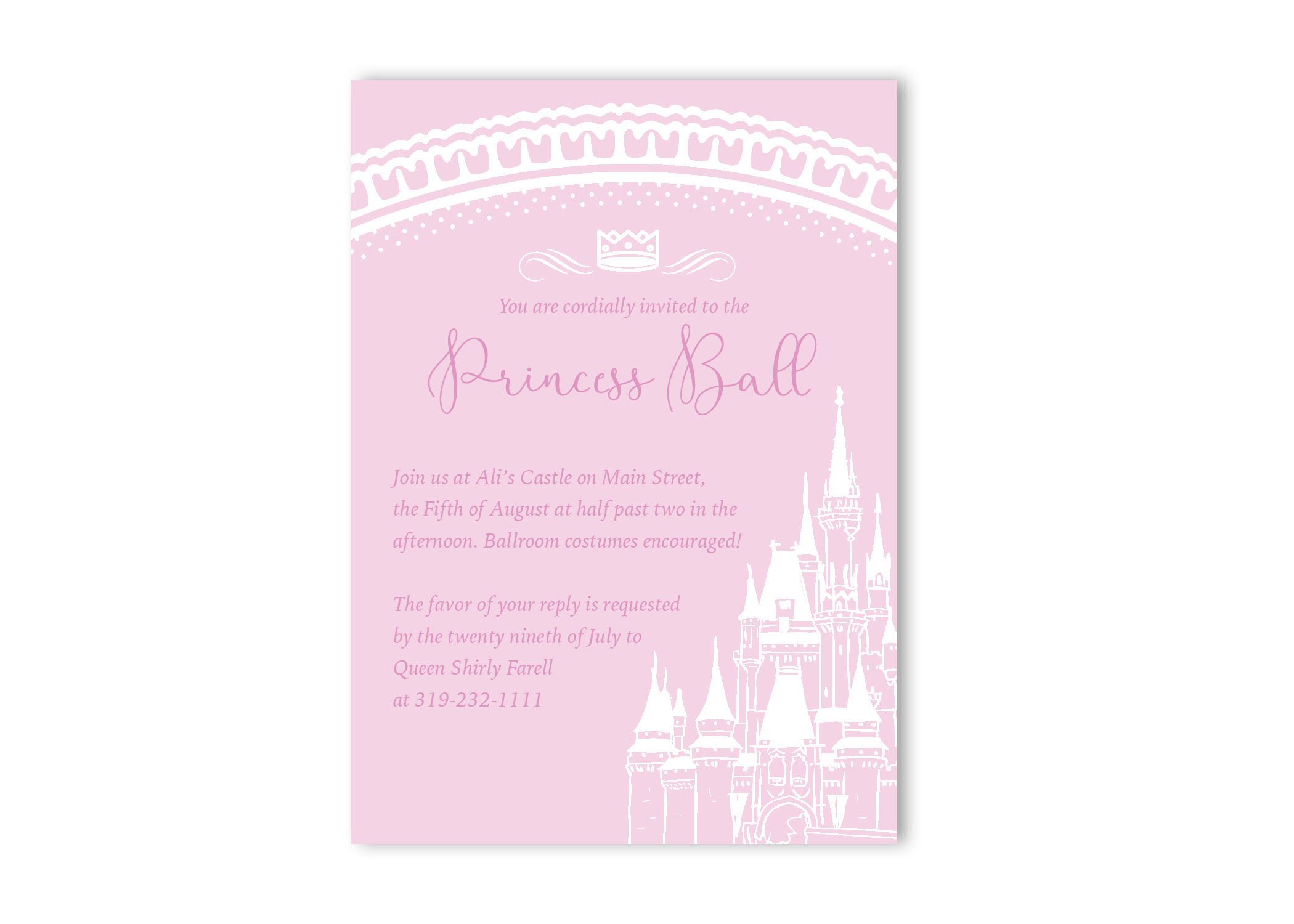 fairy tale castle birthday party