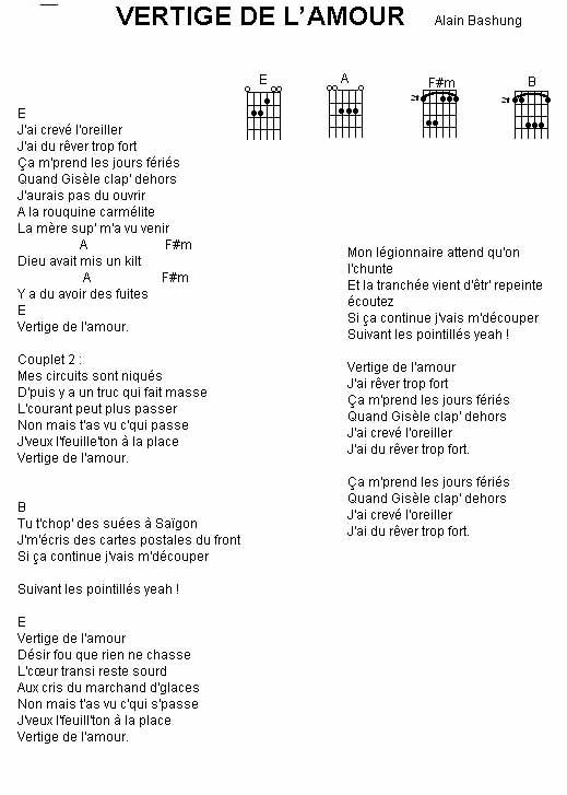Alain Bashung Vertige De L Amour : alain, bashung, vertige, amour, Document