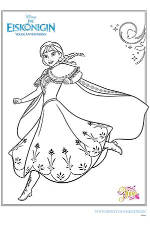 Frozen - Ausmalbilder 2015 - Anna und Elsa 01 Disney Filme