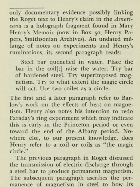 Joseph Henry's Magic Circle