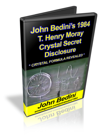 John Bedini's Crystal Secret Disclosure
