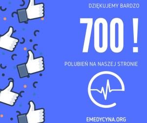 700 polubień na stronie facebook fundacja e-medycyna