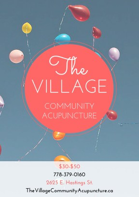 1 of 3 flyer designs for newly opened community acupuncture clinic
