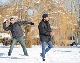 Students from across campus participated in Langara College's first and only snowball fight of the winter season. EMELIE PEACOCK PHOTO.