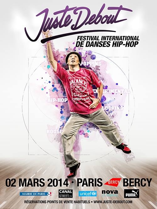 2014 Juste Debout poster