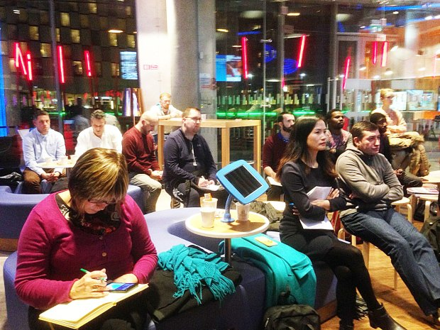 SEO Master class audience at Bank of Ireland Gran Canal Square