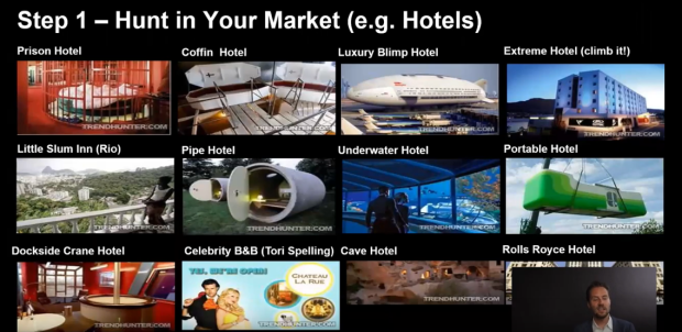 Hunt your Market (eg Hotels)