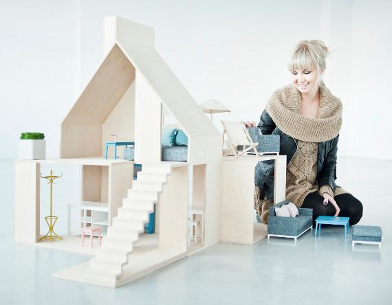 nowoczesny domek dla lalek boomini