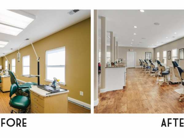 Before & After Photos of new Navarre Office!