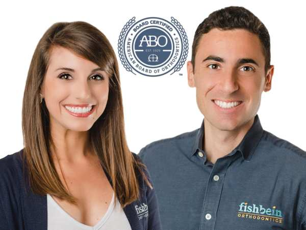 Dr. Sarah Howle and Dr. Ben Fishbein are both American Board of Orthodontics Certified