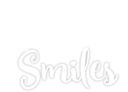 """""""Creating Life Long Smiles"""" white text over grey background, Fishbein Orthodontics"""
