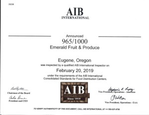 AIB 2019 Certification