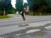 This guy was not in Bob's group. Skateboarding from Seattle to Vancouver!