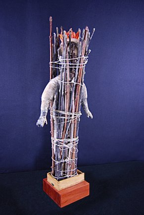 """Diagnosis"" by Suzy Mayer, Mixed Media, sculpture"