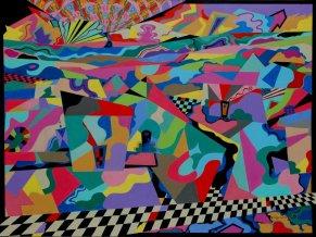 Bill Marlieb 0 Gated Estate, Acrylic on Canvass