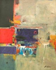 Earl Hamilton - Time, Sea, Page, Acrylic on Canvas