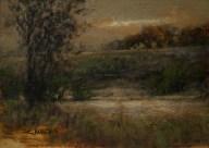Sandee Burman - Autumn Evening - Oil on Board