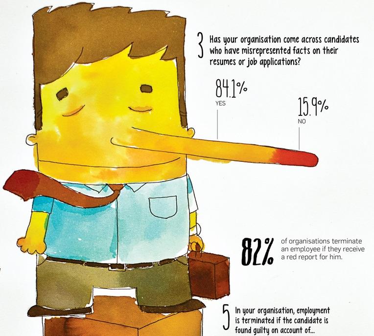 Infographie Du Mercredi Le Mensonge Dans Son CV Cest