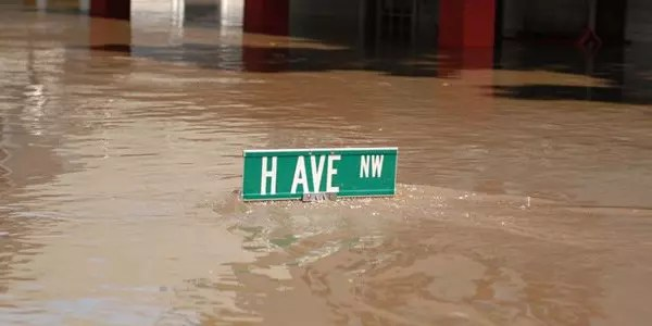unhealthy flood waters