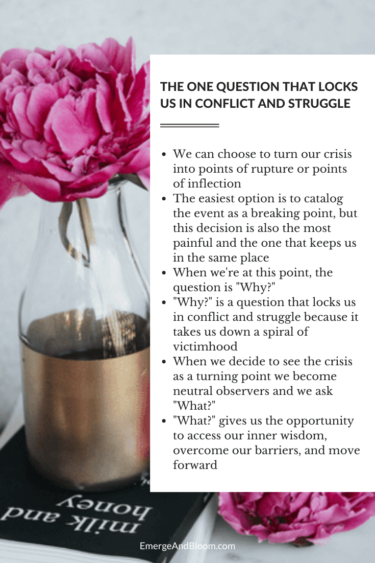 One question that locks us in conflict and struggle - Why vs What