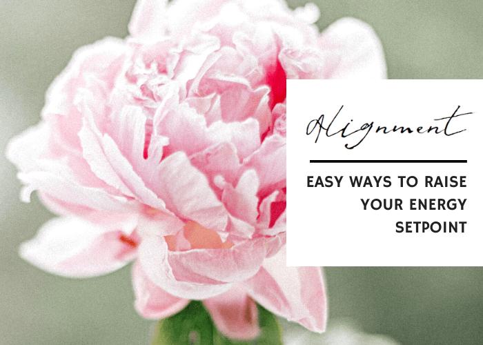 ALIGNMENT: EASY WAYS TO RAISE YOUR ENERGY SETPOINT
