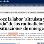 """Sanz reconoce la labor """"altruista y desinteresada"""" de los radioaficionados que ayudan en situaciones de emergencia"""