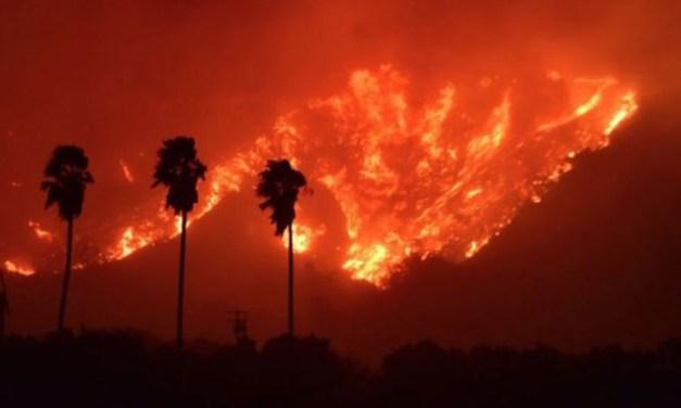 Radioaficionados en el fuego forestal Thomas en California