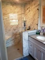 Finish a bathroom remodel with professionally installed shower glass.