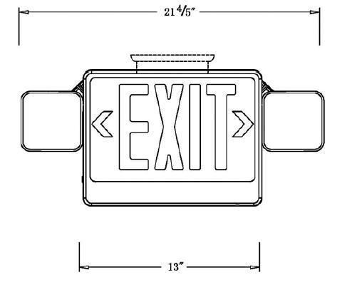 COMBO-GREEN Combination Exit Sign & Emergency Light