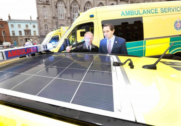 NO REPRO FEE 17/11/2017 HSE New Ambulances. The HSE National Ambulance Service (NAS) has introduced 91 new vehicles into its services during 2017. Pictured with a selection from the HSE National Ambulance Service's range of new energy efficient emergency care vehicles today at Dublin Castle are Martin Dunne, Director of the HSE National Ambulance Service and Simon Harris TD, Minister for Health. The capital spend of €14.5m has allowed the vehicles, and equipment for each one, to be purchased this year. They include 55 Emergency Ambulances, 7 Intermediate Care Vehicles, 25 Rapid Response Vehicles (cars/jeeps), 2 Critical Care Ambulances (containing enhanced medical equipment for critically ill patients) and 2 Driver Training Units. For more information see www.nationalambulanceservice.ie. Photograph: Sasko Lazarov / Photocall Ireland