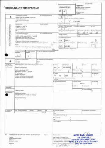 Envoi d'EMERGENT à CONNECTIC dossier douanes françaises EX1 2010_Page25