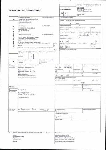 Envoi d'EMERGENT à CONNECTIC dossier douanes françaises EX1 2011_Page12