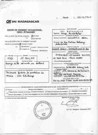 Virements 2011 pour EMERGENT signé par RANARISON Tsilavo 10-min