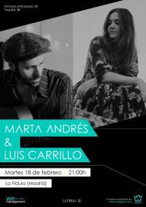 MARTA ANDRÉS Y LUIS CARRILLO @ La Fídula Espectáculos