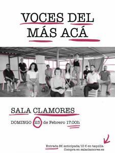 VOCES DEL MÁS ACÁ @ Sala Clamores